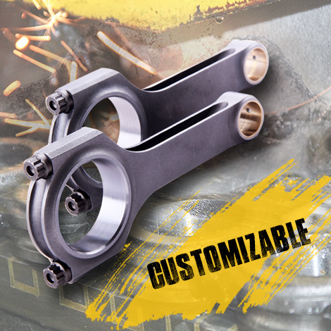 Custom Service for Maxspeedingrods High Performance H-Beam Connecting Rods & Conrods