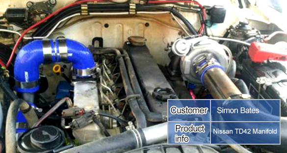 For Nissan Safari Patrol 42l Td42 Gq Y60 Y61 T3 Turbo Exhaust